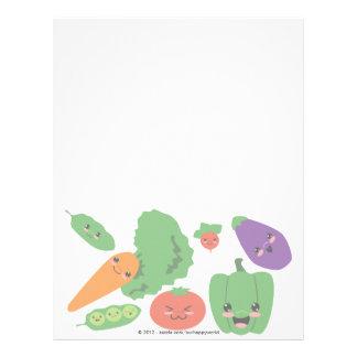 Veggies felices membrete a diseño