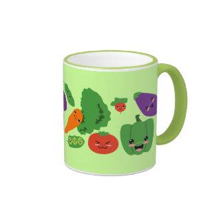 Veggies felices tazas