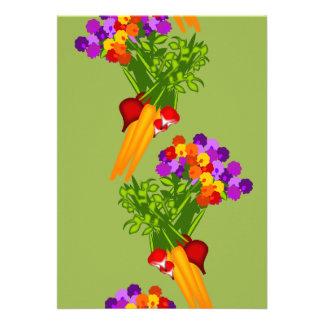 Veggies Flowers Garden Club Invitation