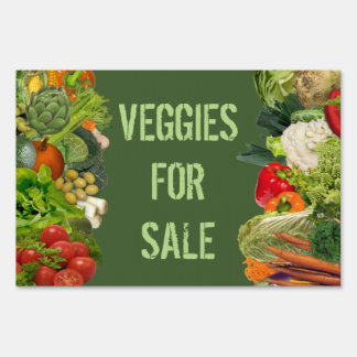 Veggies for Sale Lawn Sign