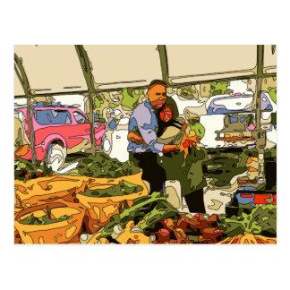 Veggies frescos en el mercado de los granjeros postal