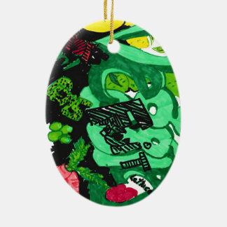 """Veggies & Fruit"" Oval Ornament"
