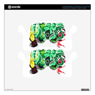 """""""Veggies & Fruit"""" Sony PlayStation 3D3C PS3 Controller Decal"""