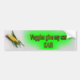 Veggies Give My Car Gas Sticker Bumper Stickers