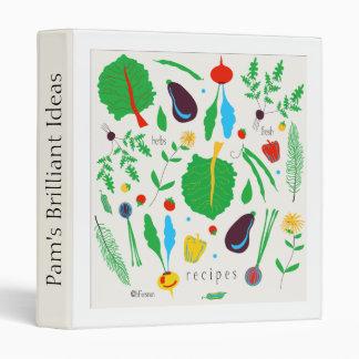 Veggies illustrated recipe binder