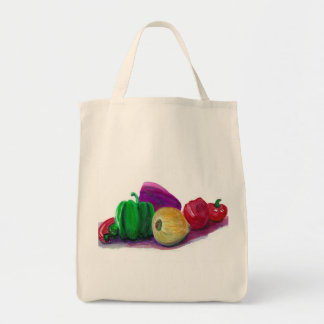 Veggies orgánicos bolsa tela para la compra