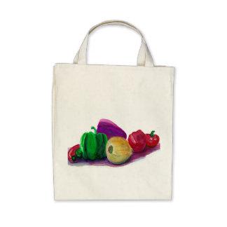 Veggies orgánicos bolsas lienzo