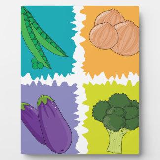 Veggies Placa Para Mostrar