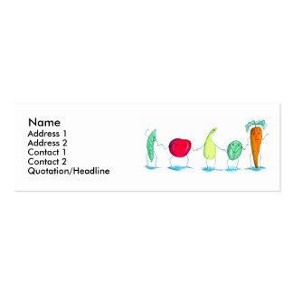 Veggies Profile Card Mini Business Card