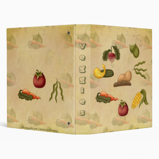 Veggies Recipes Cookbook Avery Binder