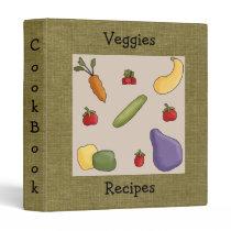 Veggies Recipes Cookbook Avery Binder