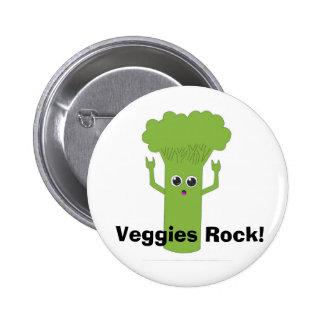 Veggies Rock! Button
