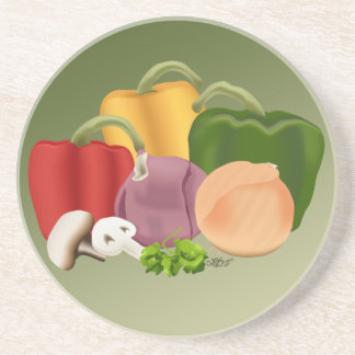 Veggies Sandstone Coaster