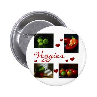 Veggies T-shirts and Gifts Pin