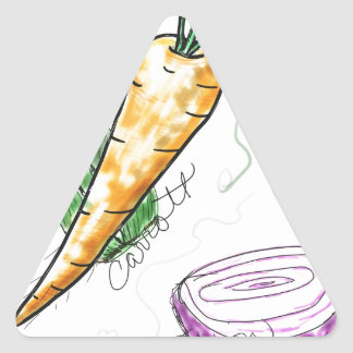 Veggies Triangle Sticker