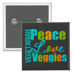 Veggies vegetarianos del amor de la paz pin
