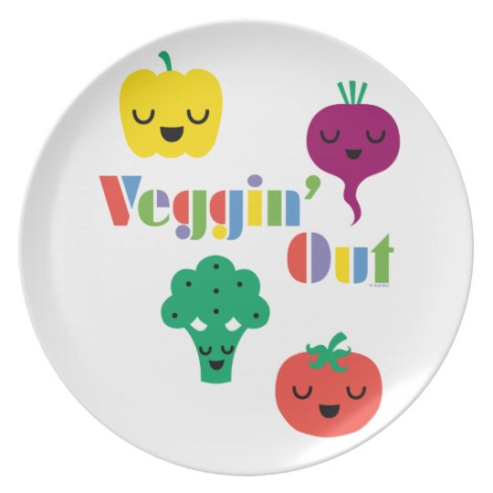 Veggin' Out - melamine plate