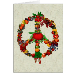 Vegie Peace Sign Card