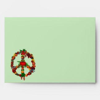 Vegie Peace Sign Envelope