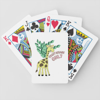Vegitarians Only Bicycle Playing Cards
