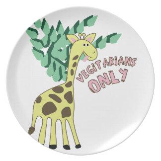 Vegitarians Only Dinner Plate