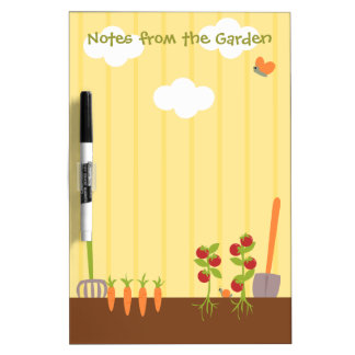Vegtable Garden Dry Erase Board