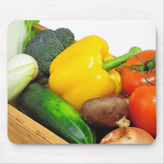 Vegtables In A basket Mouse Pad