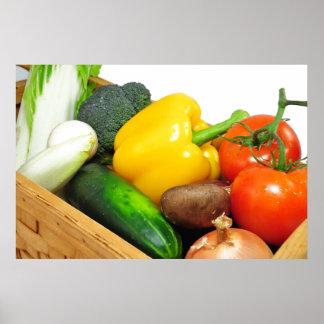 Vegtables In A basket Poster