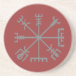 "Vegvisir Coaster<br><div class=""desc"">Vegv&#237;sir Viking Coaster. A Vegv&#237;sir (guide) is an Icelandic magic sign or magical stave intended to guide people through rough weather</div>"