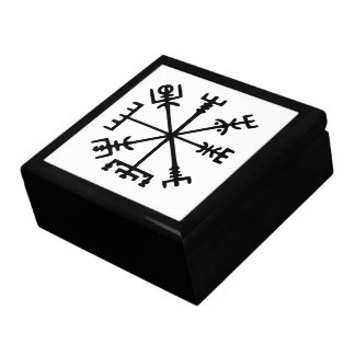 Vegvísir compás de Viking Caja De Recuerdo