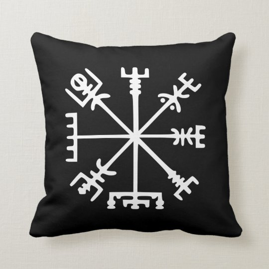 Vegvísir (compás de Viking) Cojín Decorativo