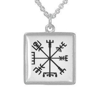 Vegvísir (compás de Viking) Pendiente Personalizado