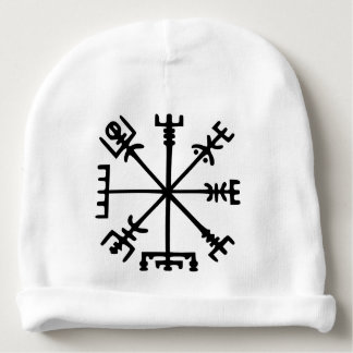 Vegvísir (compás de Viking) Gorrito Para Bebe