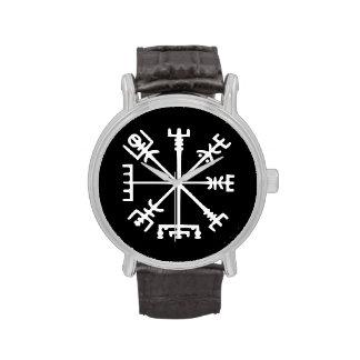 Vegvísir (compás de Viking) Reloj