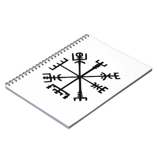 Vegvísir (compás de Viking) Spiral Notebook
