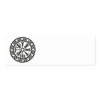 Vegvísir, Iceland, Traveler's Charm, Protection Double-Sided Mini Business Cards (Pack Of 20)