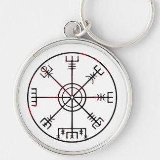 Vegvisir Icelandic Protective Runes Keychain