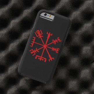 Vegvísir rojo sangre (compás de Viking) Funda De iPhone 6 Tough