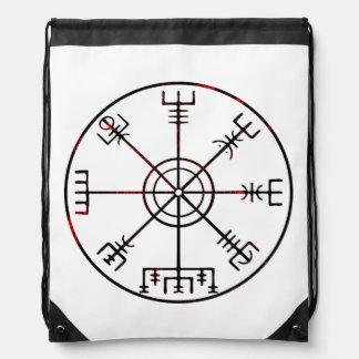 Vegvisir runic compass drawstring backpack