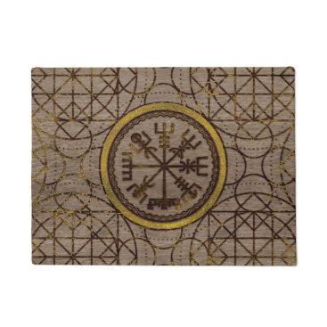 LoveMalinois Vegvisir. The Magic Navigation Viking Compass Doormat