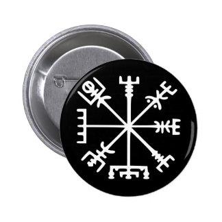 Vegvísir (Viking Compass) Pinback Buttons