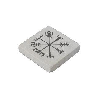 Vegvísir (Viking Compass) Stone Magnet