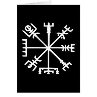Vegvísir (Viking Compass) Greeting Card
