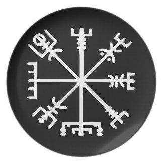Vegvísir (Viking Compass) Melamine Plate