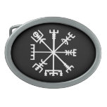 Vegvísir (Viking Compass) Oval Belt Buckle