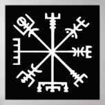 Vegvísir (Viking Compass) Poster