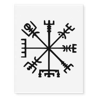 Vegvísir (Viking Compass) Temporary Tattoos