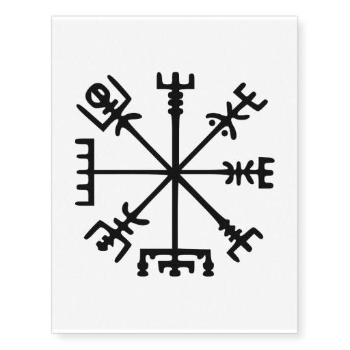 Vegvsir Viking Compass Temporary Tattoos Zazzle