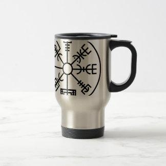vegvisir Viking Symbol Norse Shield Odin Travel Mug