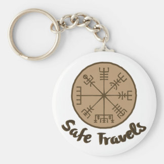 Vegvsir Stave Sigil Keychain